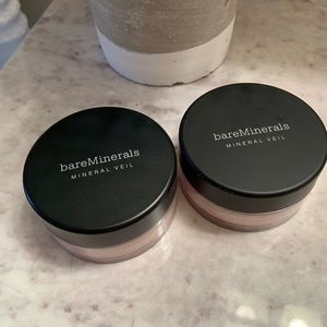 Bare Minerals (2) Mineral Veils (6 oz each)